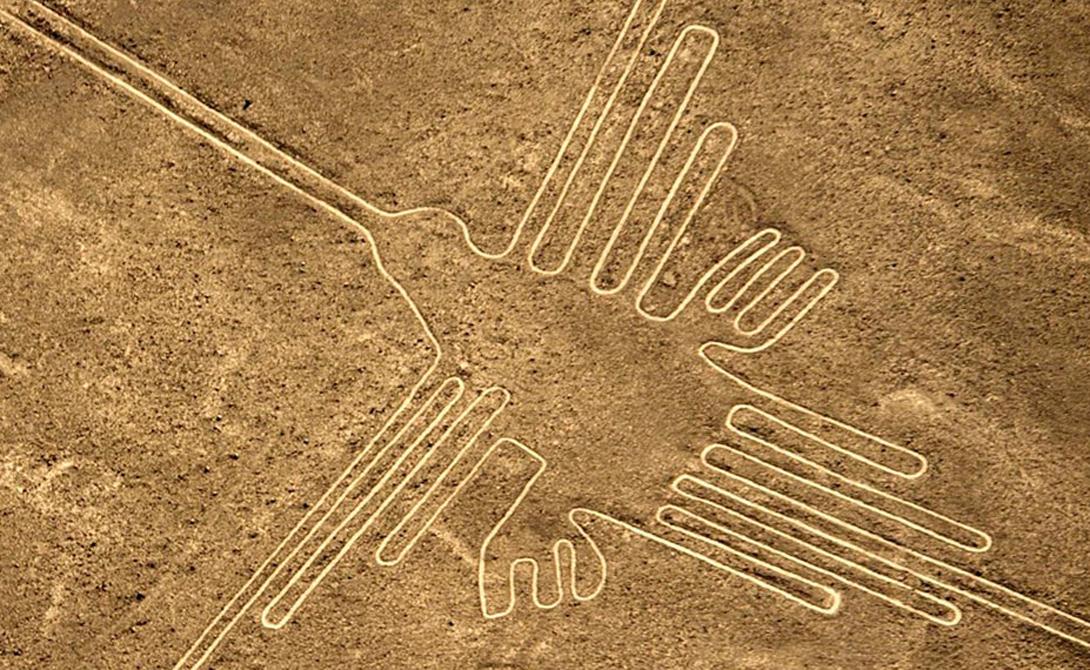Линии Наска Многие десятилетия массивные гравюры перуанских мастеров находились у археологов прямо под носом. Эти рисунки видны только с воздуха: случайный путешественник указал на странные линии, замеченные им с воздушного шара в 1927 году. Сейчас ученые считают Линии Наска памятником древнейшей цивилизации, предшествующей развитию крупнейших империй региона.