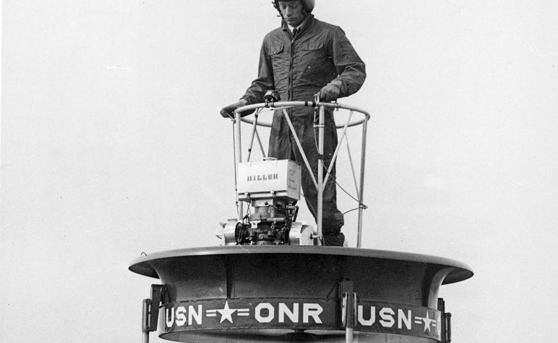 Боевая платформа Боевую платформуизготовили по заказу U.S. Navy: военным морякам требовался персональный керриер, оператор которого мог бы выполнять рекогносцировку. К сожалению, этот сложный аппарат оказался не по силам солдатам-новичкам и проект отправили в долгий ящик.