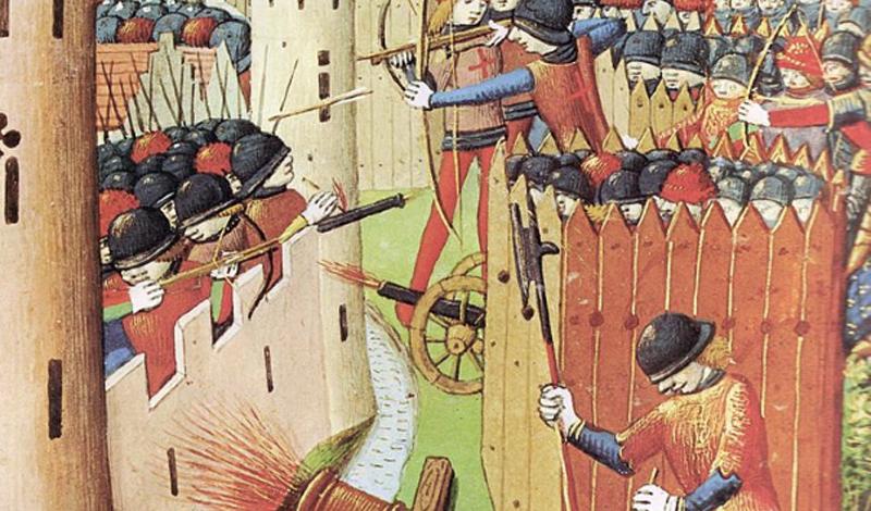Пушки Многие считают огнестрельное оружие сравнительно недавним изобретением. Тем не менее, порох был изобретен китайцами очень давно, а от них распространился по всему миру, где взволнованные военачальники принялись экспериментировать с разным типом вооружений. Средневековые пушки, подобные тем, что использовал Генрих V при завоевании Франции, стали настоящим концом для неприступных в прошлом замковых стен.