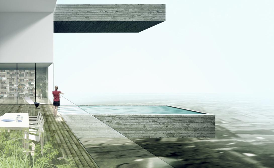 Скай Кондос Лима, Перу Совершенно непонятно, как архитекторы знаменитого Sky Condos распланировали защиту от землетрясений, которые очень часты в этом регионе. Впрочем, потенциальная опасность никак не повлияла на продажи: на данный момент проданы все кондоминиумы с бассейнами.