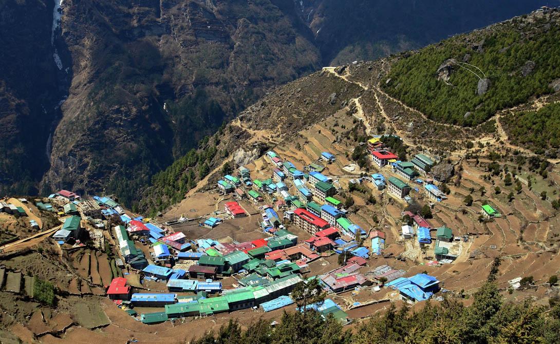 Ирландский Паб в Намче Базар Намче Базар, Непал Намче Базар – это небольшая деревня на крутом горном склоне, по сути преддверии Эвереста. Его построили специально для тех, кто отправляется покорять величайшую гору планеты.