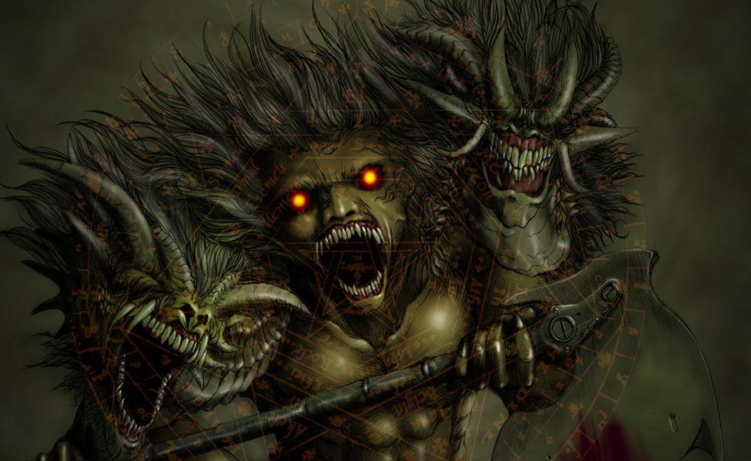 Ази Дахака Демон бури из иранской мифологии. Ази Дахака крадет скот и нападает на одиноких пастухов. Это змееподобное чудовище с тремя головами и шестью глазами.