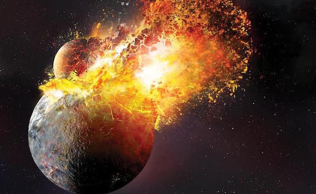 Современное толкование И вот, наконец, самая последняя теория, считающаяся на данный момент наиболее состоятельной. Изучив образцы, привезенные с Луны, ученые склоняются к выводу, что наш спутник — это всего лишь огромный осколок Земли. Примерно четыре миллиарда лет назад в то место, где сейчас находится Тихий океан, ударила другая планета, размером с Марс. Отколовшийся осколок удалился на некоторое расстояние и остановился, удерживаемый гравитацией Земли.