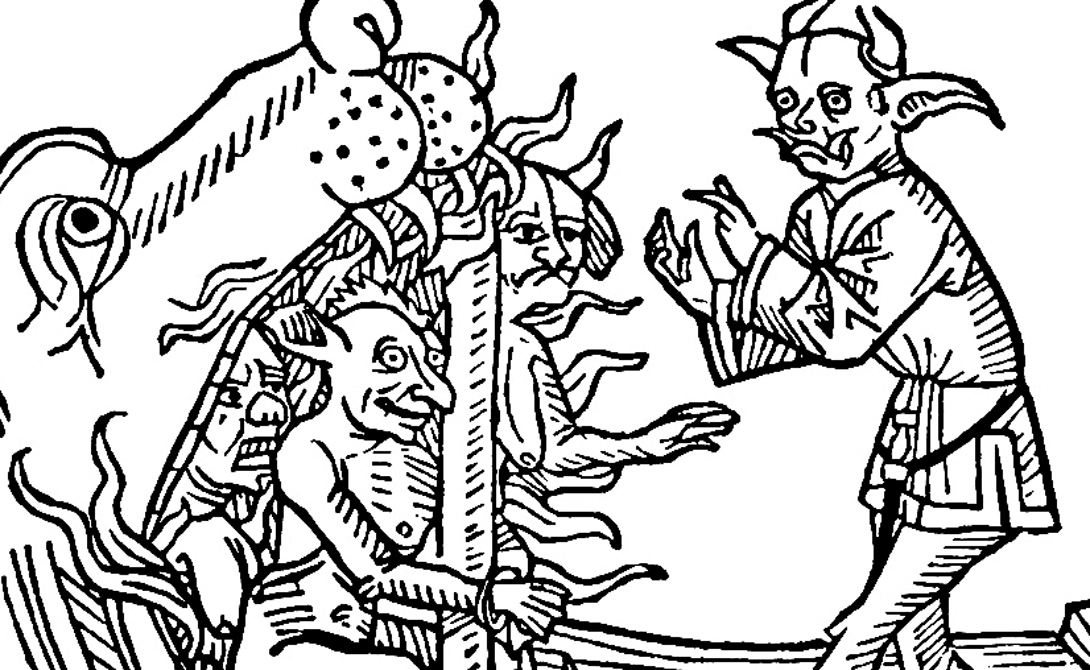 Аваддон В книге Откровения ангел по имени Аваддон, который выглядит так же, как сатана, описывается как король армии саранчи. Он держит трезубец, летает на крыльях и машет змеиным хвостом, сзывая армии на погибель всему человечеству.
