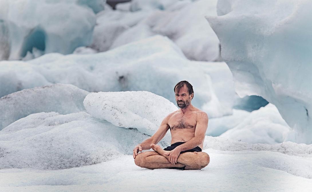 Ледяной человек Вим Хоф, голландский каскадер, является обладателем 20 мировых рекордов. Один из них — рекорд по самой длинной ледяной бане. В 2011 году The Iceman оставался погруженным в лед на протяжении 1 часа, 52 минут и 42 секунд.