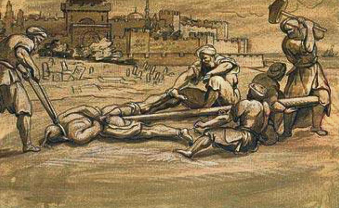 Кол Популяризатором этой ужасной казни стал румынский князь, Влад Цепеш. Он сажал захваченных в бою турок на заостренный деревянный кол, который затем поднимался вертикально. Под собственным весом несчастный сползал все ниже, пока кол не пронизывал все тело насквозь.