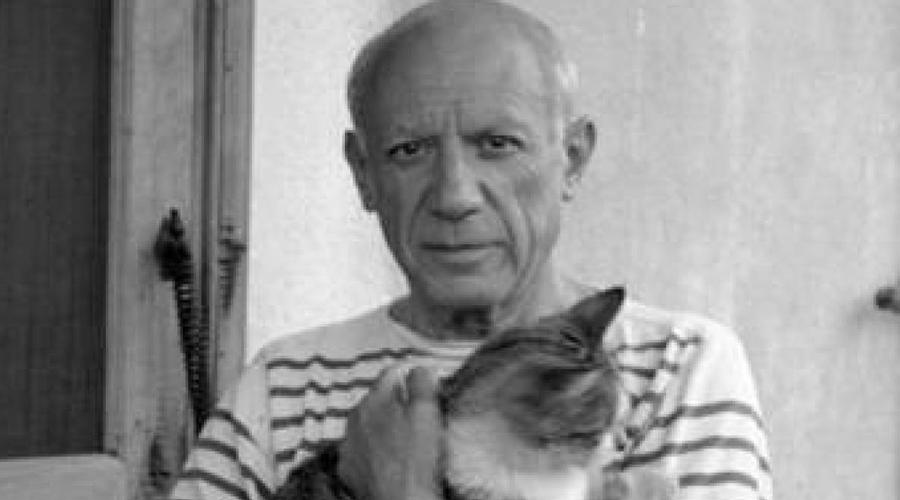 Пабло Пикассо Что может быть более романтичного, чем абстрактная живопись Пикассо, вдохновленная знойными любовными похождениями? Разве что его одержимость кошками. На пике своего таланта художник создал несколько гениальных картин, посвященных своим мохнатым друзьям. Полотно «Дора Маар с кошкой» считается сегодня одним из самых дорогих произведений искусства в мире.