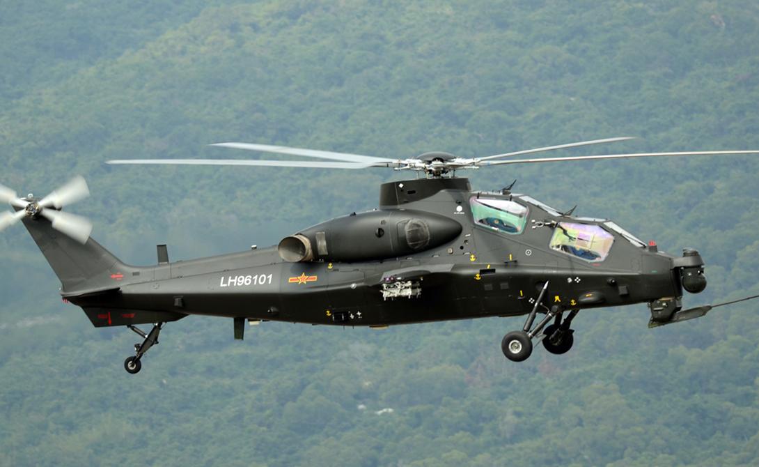 Z-10 Китай Китайский вертолет Z-10 Gunship является первым специализированным ударным вертолетом КНР. Считается, что Z-10 находится в том же классе, что и A-129 Mangusta и Rooivalk AH-2. Корпус вертолета имеет стандартную конфигурацию Gunship с узким фюзеляжем. Z-10 оснащен 30 мм пушкой и несет 10 противотанковых ракет HJ-9 или HJ-10.