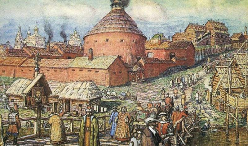 Появление на Руси В одной из летописей 1376 года отмечен случай использования волжскими булгарами странного устройства, по описанию весьма походившего на западную кулеврину. К 1382 году большое количество пушек и «тюфяков» охраняло стены Москвы: скорее всего, оружие было куплено где-то на западе для зашиты от Золотой Орды.
