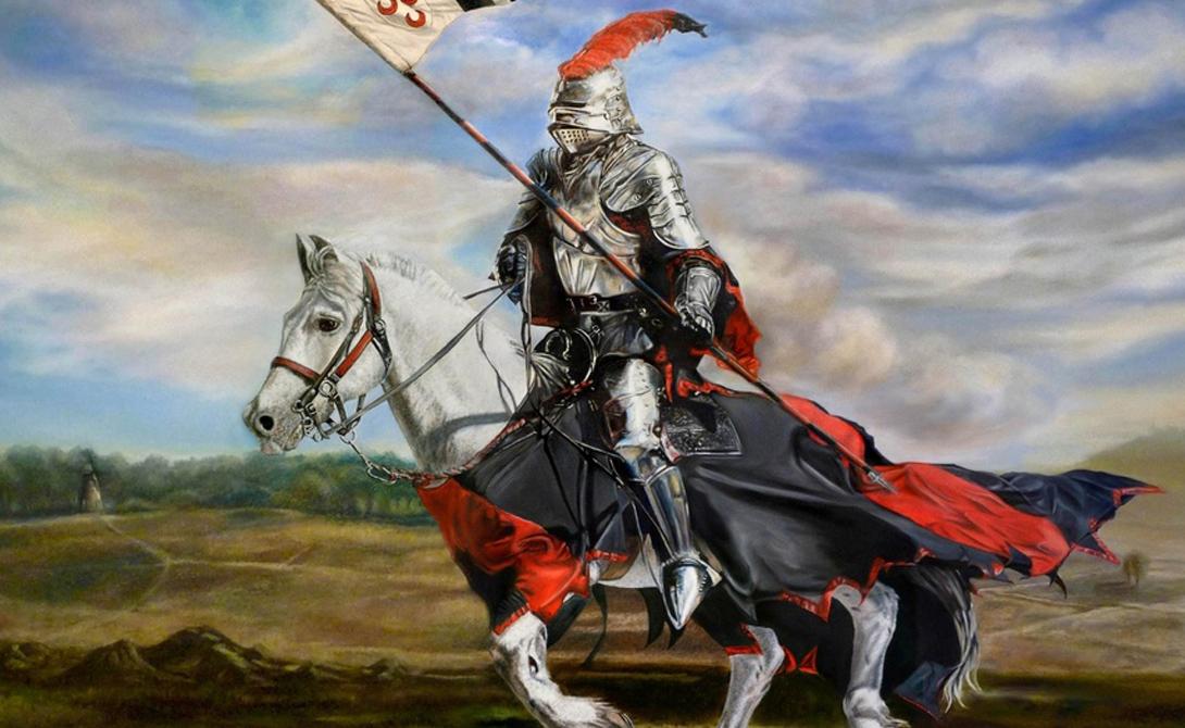 Копье Кавалерийское копье стало главным оружием конницы. В конце XII века рыцари догадались прижимать копье к туловищу, что придавало захвату большую жесткость и обеспечивало невероятную силу удара. Столкновения с западной конницей для сарацинов были сродни грому господню.