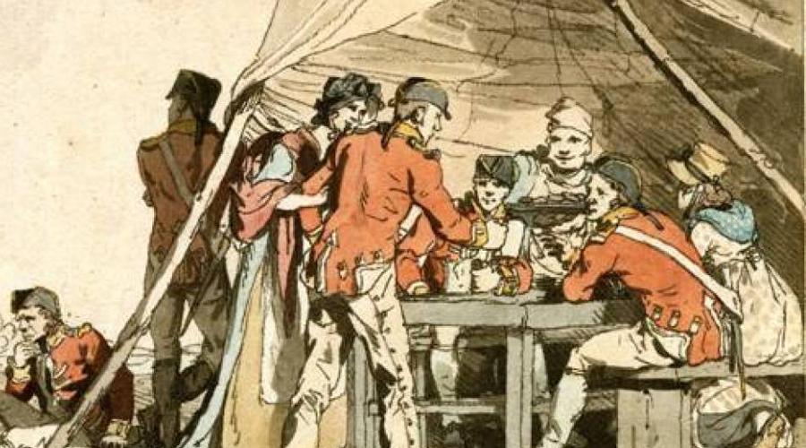 Наполеоновские войны Алкоголь Между 1803 и 1815 французские солдаты сражались против всей Европы. Мало кто знает, что им пришлось бороться против мертвецки пьяного британского военно-морского флота и находящихся в таком же состоянии морских пехотинцев: на кораблях ежедневно выдавали определенную норму спирта, чтобы предотвратить болезни и поддерживать боевой дух солдат.