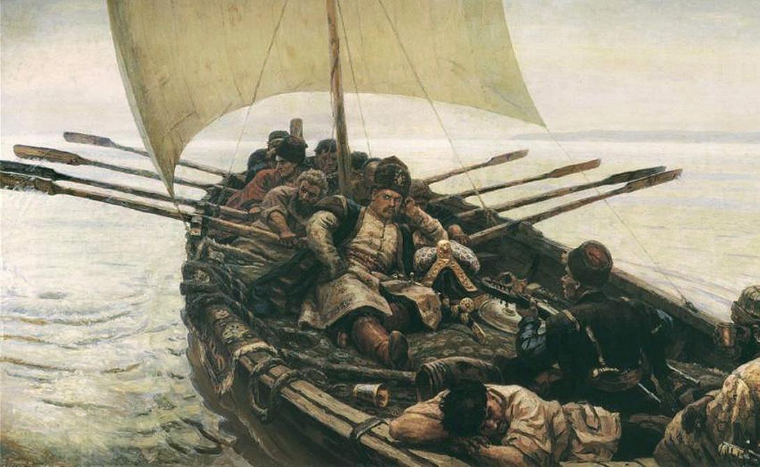 Водные дороги Казаки предпочитали передвигаться по рекам. Перевалив через горы, отряды вновь строили лодки и спускались вниз по течению. Этот умный ход позволил завоевателям в короткие сроки подчинить себе главные поселения Сибири, которые были выстроены с выходами к рекам.