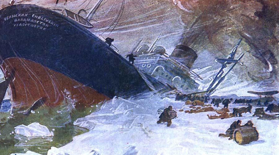 Остаемся зимовать Судну предстояла непростая зимовка. Однако, уже в первые недели капитан понял, что «Челюскину» не устоять перед давлением льдов. 13 февраля 1934 года льды и в самом деле раздавили левый борт ледокола: началась паническая эвакуация.