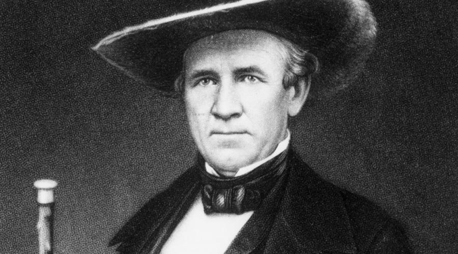 Сэм Хьюстон В 1809 году Сэм Хьюстон сбежал из родительского дома, чтобы присоединиться к племени чероки. Но затем началась американская война против индейцев и Сэм быстренько вспомнил о своем цвете кожи. За свою армейскую карьеру Хьюстон получил более 50 ранений, ни одно из которых не причинило ему существенных неудобств. Повзрослевший траппер отличался ужасным характером и однажды набросился на конгрессмена Теннеси прямо на улице, начав избивать того тростью. Уильям Стэнбери некоторое время послушно терпел нападки героического воителя, а затем просто достал револьвер и пальнул агрессору в грудь. Два раза. Что сказать, это немного охладило пыл Хьюстона, однако не до конца. Встав с земли, окровавленный Сэм представлял собой ангела мести во плоти, и Стэнбери предпочел убраться от него куда подальше. Хьюстон выжил и принял участие еще во многих американо-индейских стычках.