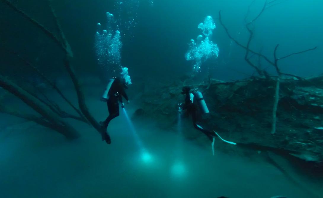 Подводные реки На дне океанов существуют и другие подводные реки, а точнее, случаи так называемого «холодного просачивания». Это подводные участки, где сероводород, метан и другие углеводороды просачиваются через трещины на дне, смешиваются с морской водой, а затем медленно движутся, подобно рекам. Учёные считают, что холодное просачивание связано с тектонически активными зонами океанов (движениями земной коры). Например, это явление зафиксировано в Японском желобе, где океаническая земная кора погружается под материковую.