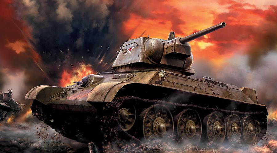 Т-34 СССР Легендарный Т-34 стал самым массовым танком Второй мировой войны: всего СССР построил более 84 000 машин. Быстрый, маневренный, жесткий к противнику, настоящаястальная кость в мягкой стали немецких бронемашин. Наклонная лобовая броня толщиной в 45 мм служила надежной защитой от пушки уже упомянутого Panzer IV, чаще всего не способного реализовать свое преимущество в дистанции поражения.