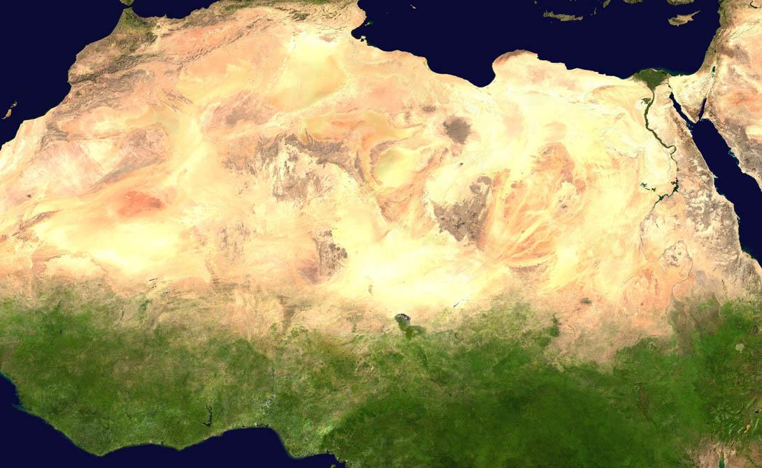 Скорость распространения Каждый год пустыни всего мира потихоньку захватывают все новые территории. Быстрее всего двигается Сахара. В начале XXI века ее площадь оценивалась в 7 миллионов квадратных километров, сейчас же ученые говорят о 9 миллионах. Скорость распространения песков пустыни составляет внушительные 50 километров в год.
