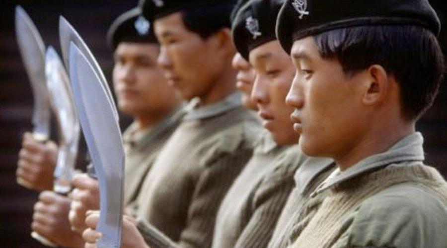 Гуркхи Непальские гуркхи смогли серьезно поумерить колониальные нападки Британской империи, а ведь это удавалось очень немногим народам. По утверждению воевавших с непальцами англичан, гурхков отличает пониженный болевой порог и повышенная агрессивность: Англия даже решила принимать бывших противников на военную службу.