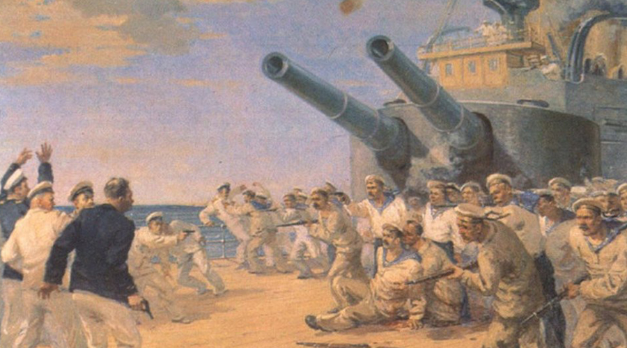 Русский бунт: беспощадный Неповиновение приказу привело капитана корабля Голикова в ярость. Он приказал караульным взять матросов под прицел, надеясь успокоить мятежников силой. Результат был кардинально противоположным: разъяренные матросы захватили арсенал, а вооружившись расстреляли и выкинули за борт весь офицерский состав.