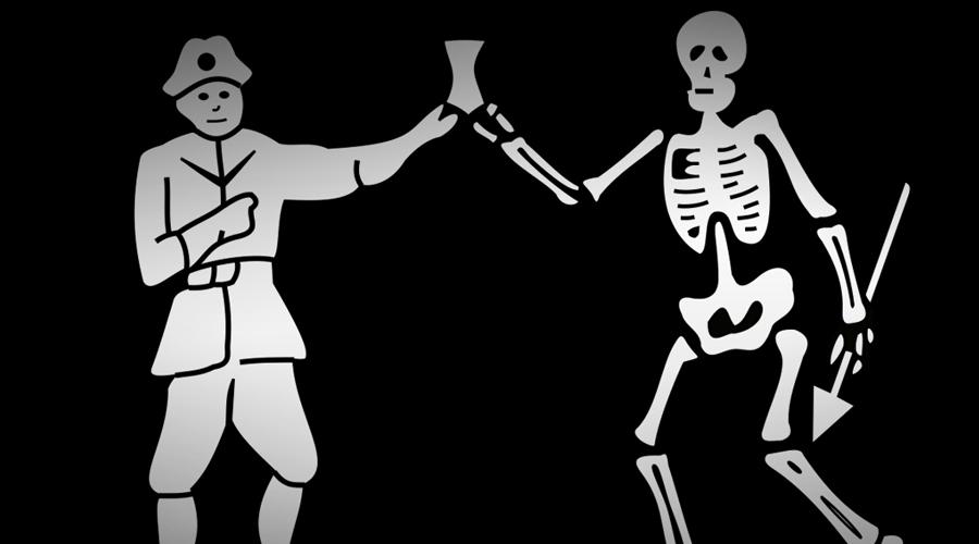 Последнее прощай Удача покинула Робертса в 1721 году. 10 февраля британский бриг «Ласточка» случайно наткнулся на пиратское судно, дрейфовавшее у берегов Габона. Здесь Черный Барт дожидался кораблей своей эскадры и потому принял англичан за своих. Бриг подошел к пиратам вплотную и дал бортовой залп, снесший все мачты и такелаж. Затем англичане картечью вычистили и палубу: Черный Барт умер одним из первых.