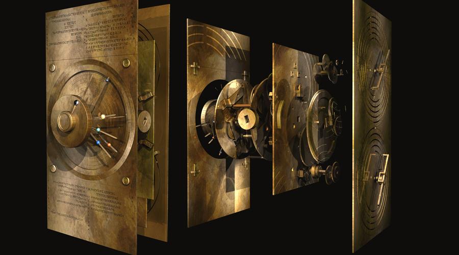 Работа Прайса В 1959 году американский физик Роберт Прайс сделал рентген механизма и воссоздал его схему. Сложнейшая структура шестерней позволяла древним мореплавателям моделировать передвижения светил и даже вычислять лунные фазы. Реконструкция Прайса использовала дифференциальную передачу — ранее считалось, что она была изобретена только в XVI веке.