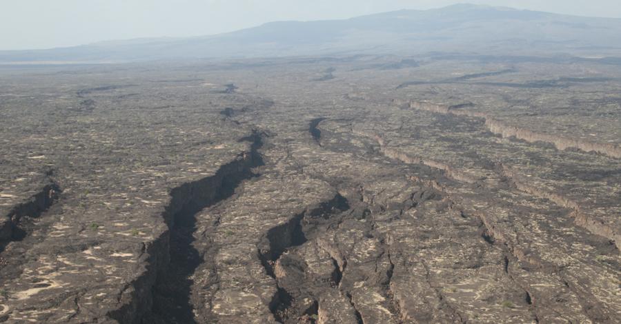 Стремительный рост В Афар собрались геологи со всего мира. В течение следующих нескольких месяцев после извержения Даббаху регион покрылся сотнями фиссур, земля провалилась сразу на стометровую глубину. Ученые смогли воочию наблюдать, как поднимается из глубин планеты раскаленная магма, формируя то, что в конечном итоге станет базальтовым дном океана.