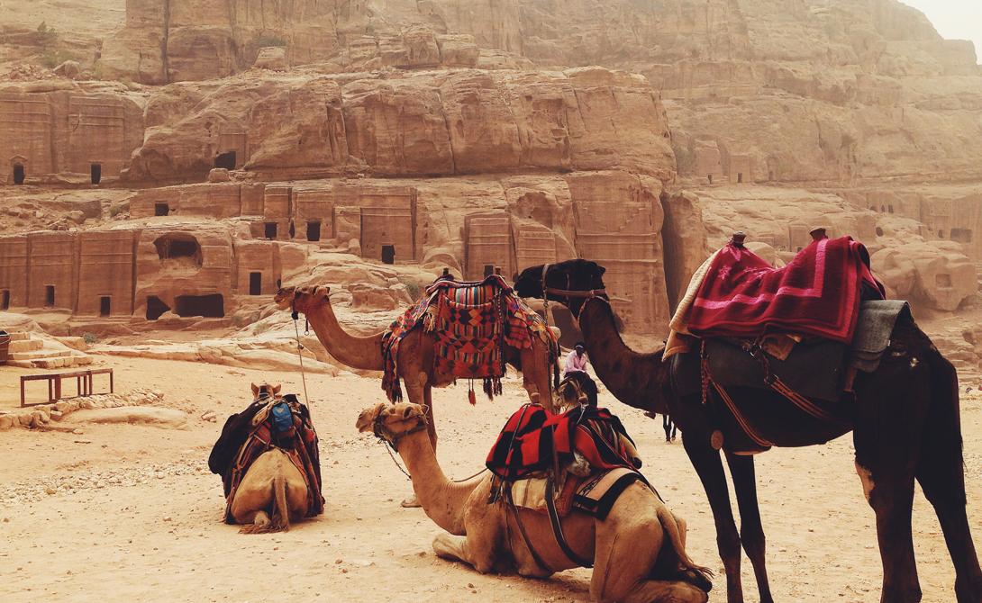 Рай для туриста Каждый год миллионы туристов со всего мира стекаются в Иорданию только для того, чтобы своими глазами увидеть величественный город в скале. Первое, что видят люди — огромное здание Аль-Хазне, увенчанное урной, где раньше хранилось золото и драгоценные камни. Увы, от былого богатства и великолепия Набатейской империи остались лишь эти архитектурные памятники. Сегодня у стен когда-то величайшего города региона пасут своих коз бедуины, а предприимчивые арабы катают толстосумых американцев на верблюдах.