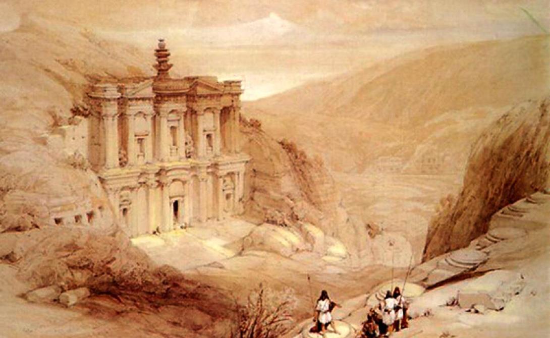 Каменный город К первому веку нашей эры набатеи стали искуснейшими мастерами работы по камню. Само название «Петра» с греческого переводится как камень. Среди красных песчаников пустыни высеченный в скале город выглядит настоящей сказкой.