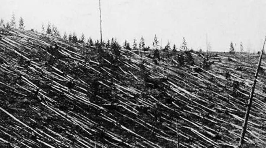 Тунгусский метеорит По словам свидетелей (ближайшие находились в 80 километрах от эпицентра) темное облако на горизонте превратилось в гигантский столб черного дыма, а затем из неба пролился огненный дождь. 30 июня 1908 Тунгусский метеорит произвел невероятные разрушения в радиусе около 1000 квадратных километров. Упади подобный метеорит на город — и число жертв было бы просто немыслимо.