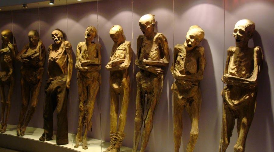 Мумии инков В конце 1550 года испанский чиновник случайно наткнулся на мумии инков, спрятанных в потайной пещере неподалеку от Перу. Дальнейшее исследование выявило и другие пещеры: у индейцев оказался целый склад мумий — 1365 персон, бывших когда-то основателями главнейших родов культуры.