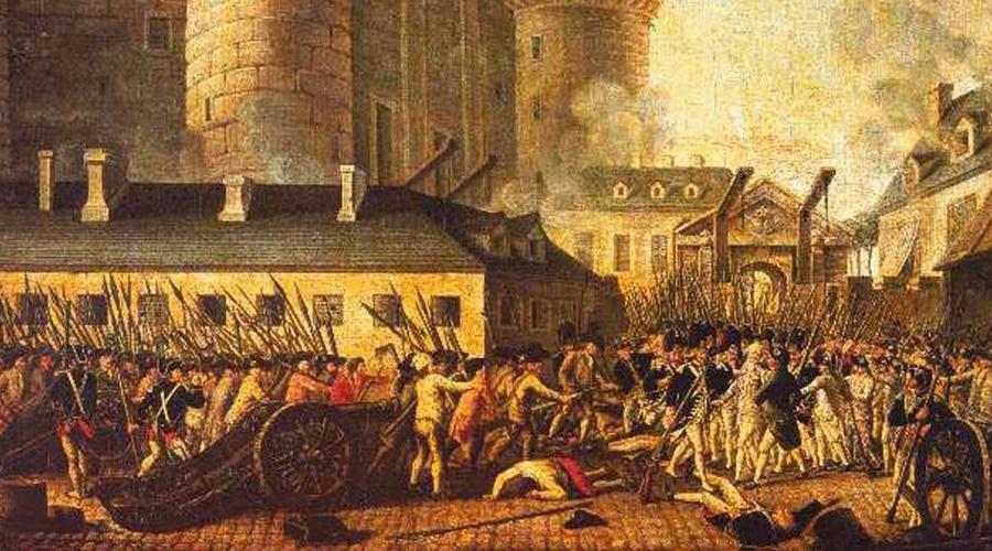 Французская революция Песни итребы придут отпорабощённых,Находящихся вплену узнати вихтюрьмах,Позднее безмозглые идиотыНазовут это божественными высказываниями Великая французская революция случилась в 1789 году: толпы черни прокатились по улицам Парижа, сметая войска и убивая представителей знати. Штурм, а затем и падение Бастилии стали символом кульминации революционного движения.