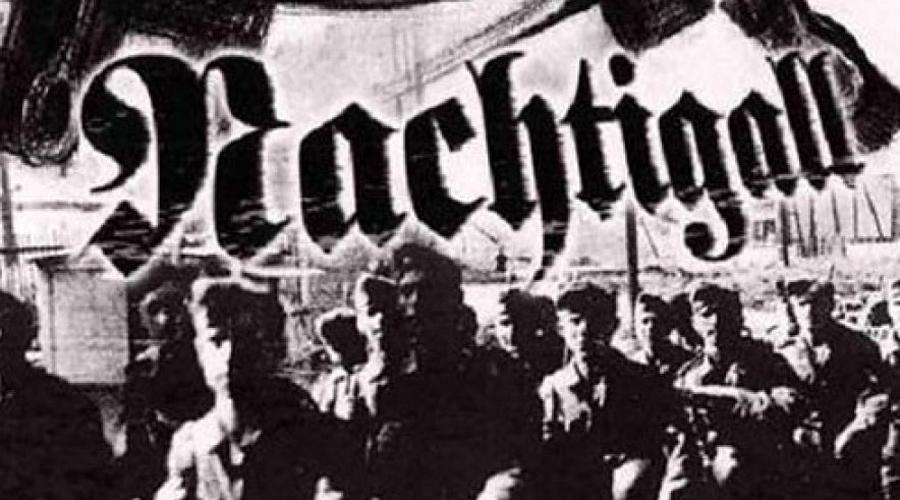 Украинский легион Примерно в середине весны 1941 года Бандера (уже плотно сотрудничавший с немецким Абвером) становится главой ОУН. Из членов этой организации революционер набирает специальный украинский легион «Нахтигаль», который примет активное участие в борьбе на стороне немецко-фашистских захватчиков.