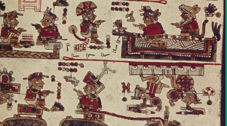 Кодекс Селден Рукопись сделана из кожаных полосок, покрытых для сохранности левкасом. Пять сотен лет провел этот манускрипт под слоем гипса: только в прошлом году ученые просканировали старинную миштекскую рукопись и обнаружили скрытый текст. Понять его мы не можем до сих пор.