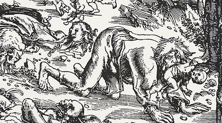 Оборотень из Шалоне Одним из самых худших в мире оборотней был оборотень из Шалоне, известный также как Хвост Демона. Он был привлечен к суду в Париже 14 декабря 1598 по обвинению в убийствах, которые были настолько ужасны, что суд обязал уничтожить все документы после слушания. Даже его настоящее имя стало потерянным в истории. Этот человек заманивал детей в свой магазин, потрошил их, а их кожу пускал на особый, волчий костюм. В сумерках оборотень из Шалоне выходил на охоту к окраине леса и там набрасывался на прохожих.