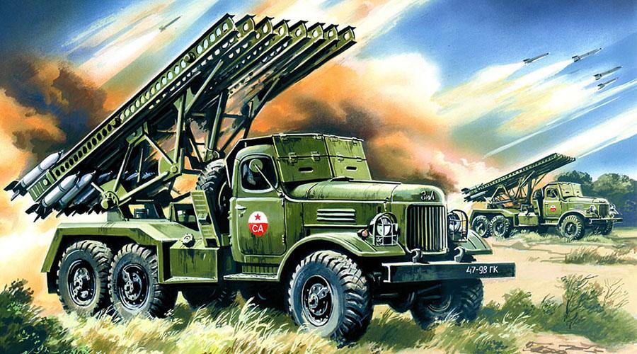 Полноприводные убийцы ЗИС-6 по многим причинам не мог долго оставаться основным шасси для миномета. Здесь нам помогли английские и американские поставки по ленд-лизу: с 1942 года реактивный миномет устанавливался именно на эти полноприводные шасси, самым известным из которых был Studebaker US6. За всю войну Советский Союз выпустил более десяти тысяч боевых машин реактивной артиллерии.