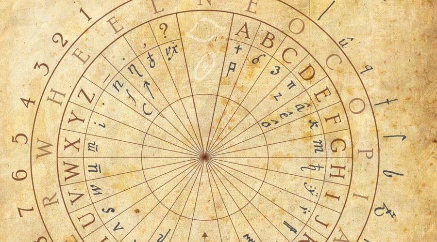 Кодекс Copiale Это немецкая зашифрованная рукопись второй половины XVIII века, содержащая информацию о тайном обществе масонского типа под названием «Oculisten». Манускрипт был записан непонятными символами, диакритическими знаками и буквами греческого и латинского алфавитов. На данный момент исследователи сумели распознать несколько первых страниц кодекса. Однак, многочисленные отсылки к зашифрованным именам братьев-масонов серьезно затрудняют исследовательскую работу.