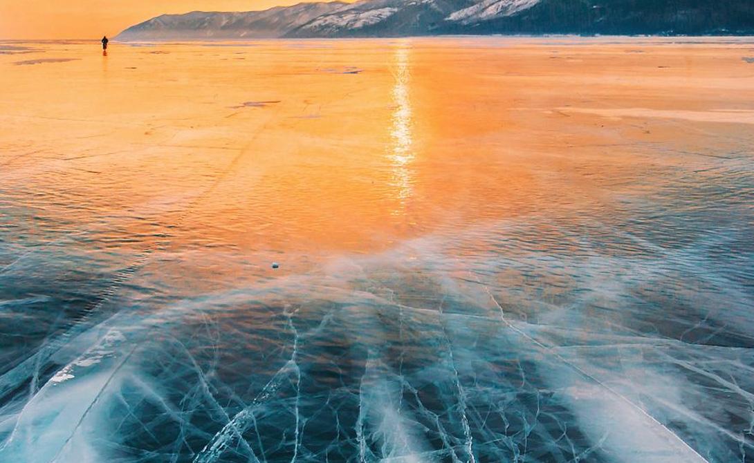 Предусмотрительная природа Лед все время трещит и лопается при сильном морозе. Длина расколов может достигать 10-30 км, а ширина превышать несколько метров. Благодаря этим трещинам, рыба в озере не погибает от недостатка кислорода.