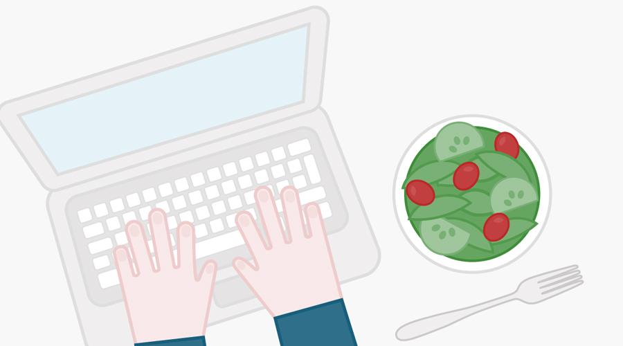 Обед на рабоче месте 12:30 Во-первых, обед вместе с коллегами облегчит взаимопонимание в коллективе и даже улучшит производительность всей команды. Во-вторых, даже короткий перерыв изрядно восстановит ваши собственные силы: оторвавшись от рабочего места, вы дадите мозгу время на отдых.