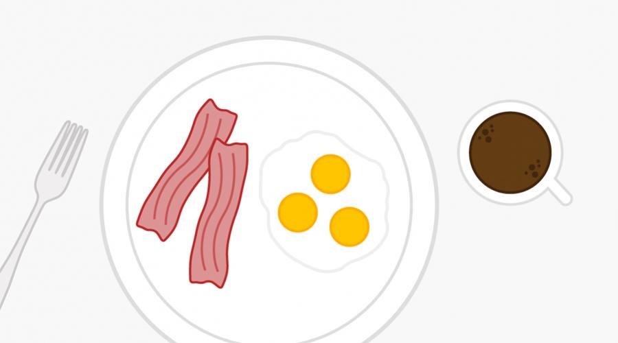 Завтрак 8:00 Первый прием пищи за день определяет, как будет функционировать сегодня метаболизм. Завтрак повышает уровень сахара в крови, помогая вам сосредоточиться и быть продуктивным весь день. Решили обойтись без завтрака? Не удивляйтесь повышенной раздражительности и сложностям с концентрацией внимания.