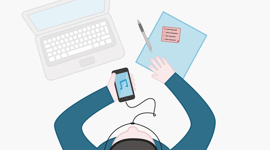 Музыкальная пауза 13:30 Многие любят слушать музыку во время работы, считая ее неким подспорьем в продуктивности. Однако нейробиолог и музыкант Даниэль Левитин провел исследование, по результатам которого доказал обратное. Музыка серьезно влияет на способность человека решать интеллектуальные задачи — приберегите любимый плейлист для однообразной монотонной работы.