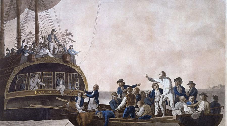 Мятеж на «Баунти» Но кто же открыл изолированный остров второй раз? Группа из девяти самых разыскиваемых людей в Британской империи, печально известные мятежники с «Баунти». Во главе стоял лейтенант Кристиан Флетчер, тот самый, что подбил матросов высадить капитана и лоялистов на небольшой баркас, а сам привел «Баунти» к небольшому островку.