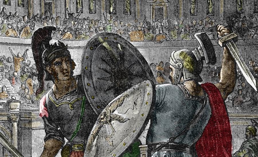 Диета бойца Как элитные школы, так и рабские казематы предлагали гладиаторам один и тот же рацион — с учетом качества, разумеется. Диета состояла из белков и углеводов, любые спиртные напитки запрещались. Естественно, гладиаторы всегда были в хорошей форме, но частенько могли похвастать небольшим пузом. Избыток углеводов помогал бойцу нарастить эту жировую прокладку, как дополнительную защиту от поверхностных ран.