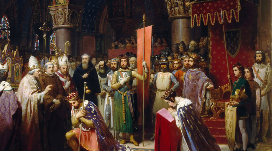 Меровинги Сакральная фамилия Меровингов была первой династией франкских королей, правивших с конца V до середины VIII. По легендам, первым предком Меровингов по женской линии был сам Иисус Христос, якобы женатый на Марии Магдалине и родивший от нее ребенка. Ребенок был перевезен в Галлию и стал первым основателем династии.