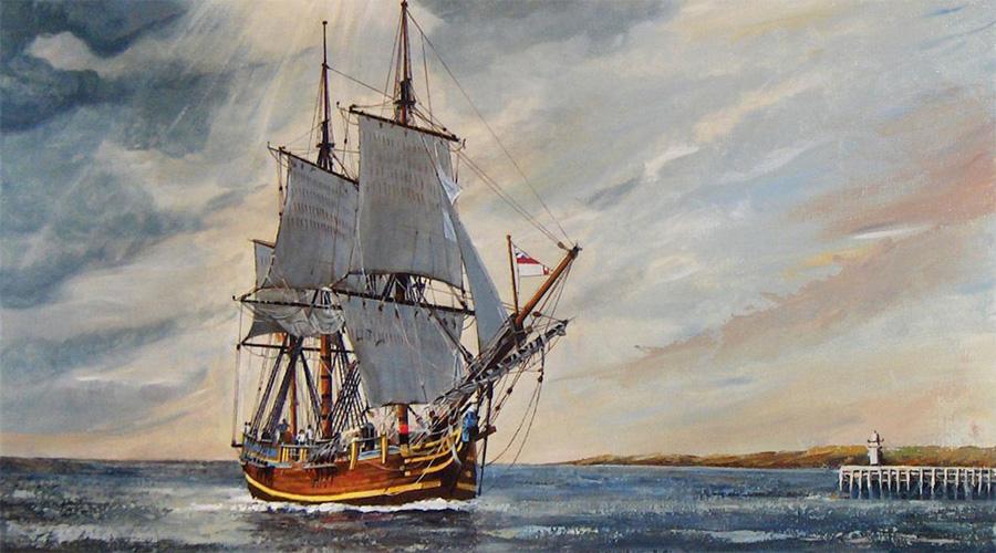 Нет пути обратно Ступив на Питкэрн (идеальное убежище, благодаря неправильным координатам в лоциях) пираты и мятежники сожгли корабль. Со слезами на глазах наблюдали они за гибелью «Баунти», опускавшимся на дно океана. Решение затопить единственное судно принадлежало Флетчеру: новоявленный капитан прекрасно понимал, что мятежников при возвращении в родные края ждет лишь одна судьба: пляска с конопляной Молли, как в то время называли виселицу. Остов судна был обнаружен командой National Geographic в 1957 году, он и сегодня покоится на дне Баунти-Бэй.