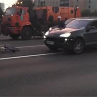 Мажоры на дорогой тачке решили избить невинного велосипедиста. А теперь внимание, что было дальше!