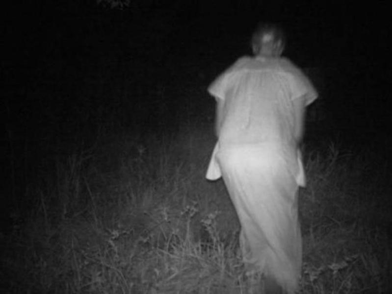 Старая женщина Помните нашумевший в свое время ужастик «Ведьма из Блэр»? Камера на тропе в национальном парке Аризоны поймала эту фигуру, больше всего похожую на старую женщину в пижаме. Столкнуться с такой бабушкой ночью будет просто смертельно опасно!