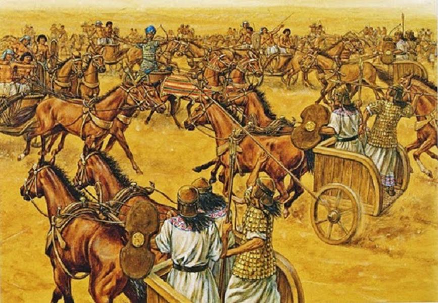 Специализация Среднего Царства Вооружение египетских воинов постоянно развивалось. Уже во времена Среднего царства появились новые, более совершенные луки с дальностью полета стрелы до 180 метров. Изменилась и организация всего войска, разделенного на отряды копейшиков и лучников. Все подразделения имели определенное количество солдат по 6, 40, 60, 100, 400 и 600 воинов.