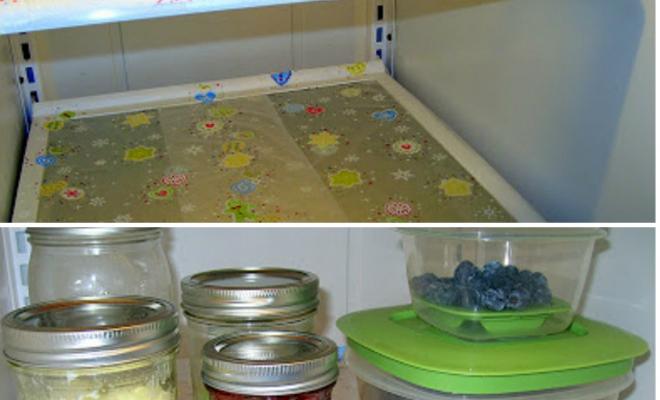 Чистый холодильник Мыть холодильник не любит никто. Долго, неудобно и не очень приятно. Между тем, можно на этом занятии поставить крест: обтяните стеклянные полочки пищевой пленкой — в следующий раз вся уборка будет заключаться в смене пленки.