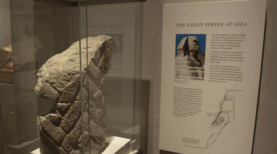 Борода Сфинкса Египет все никак не может договориться с Великобританией о возвращении бороды Великого Сфинкса, которая в настоящий момент хранится в подвале Британского музея. Этот элемент 4600-летнего артефакта был продан Англии еще в 1818 году.