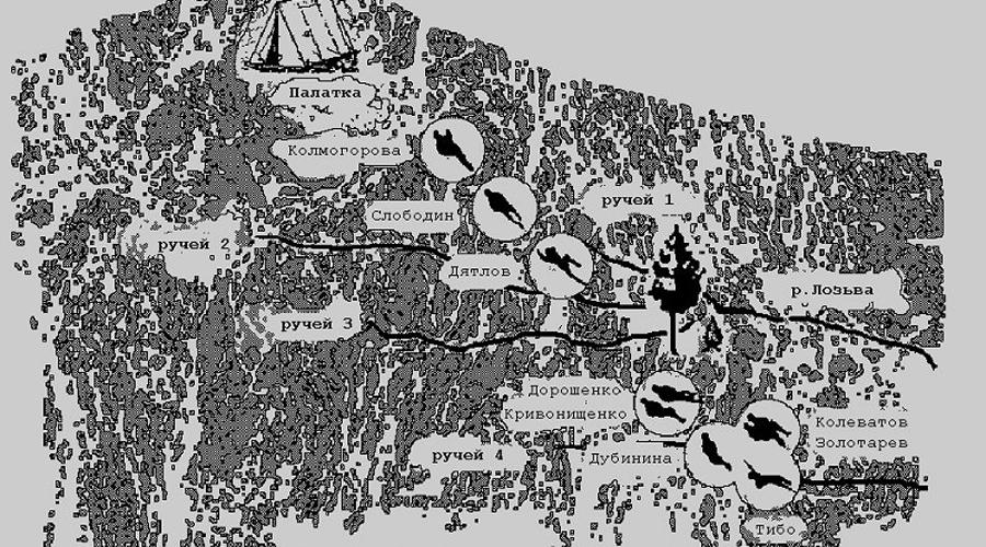 Ушминская загадка Под описание Степочкина подходит лишь одно место, Ушминская пещера. Археологи и в самом деле давно знали, что место это для хантов священно. Тут часто наблюдали (и наблюдают до сих пор) появление предметов культа и религиозные подношения. Однако, спуститься вниз ребята из группы без специального снаряжения просто не могли. Приходится признать: либо дятловцы знали о пещере заранее и шли туда целенаправленно, либо обнаружили какой-то другой, неизвестный геологам маршрут.